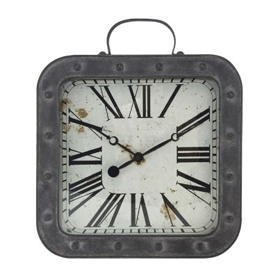 "Westclox 13.75"" Square Metal Pocket Watch Wall Clock"