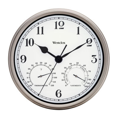 """Westclox Big Ben 12"""" Metal Indoor/Outdoor Round Wall Clock"""