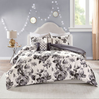 Intelligent Design Renee Floral Hypoallergenic Comforter Set by Intelligent Design