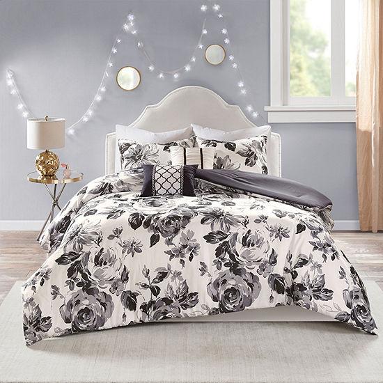 Intelligent Design Renee Floral Hypoallergenic Comforter Set