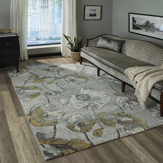 Momeni Luxe Large Floral Rectangular Indoor Rugs