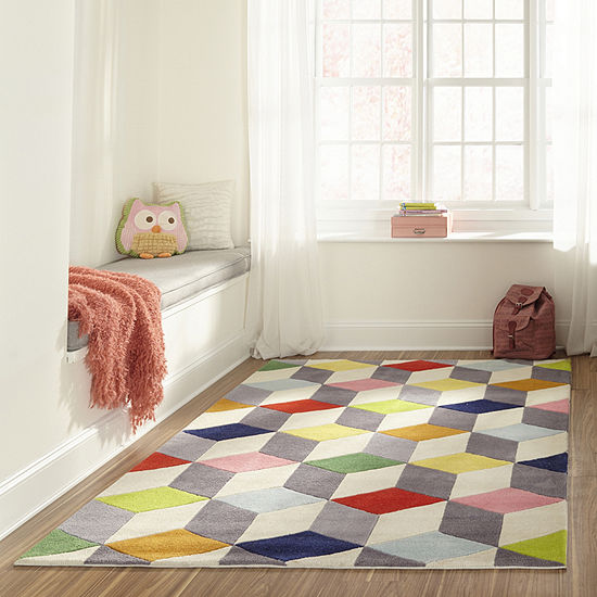 Momeni Lil Mo Blocks Hand Tufted Rectangular Indoor Rugs
