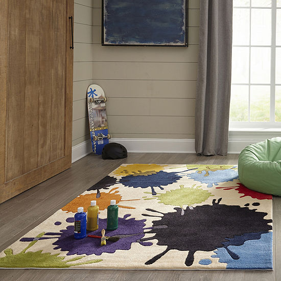 Momeni Lil Mo Paint Ball Hand Tufted Rectangular Indoor Rugs