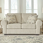 Signature Design by Ashley Haidee Living Room Collection Roll-Arm Upholstered Loveseat