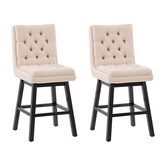 Boston Dining Collection 2-pc. Upholstered Tufted Bar Stool