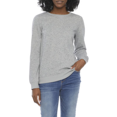 St. John's Bay Womens Crew Neck Long Sleeve Sweatshirt