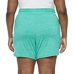 St. John's Bay Womens Mid Rise Pull-On Short-Plus