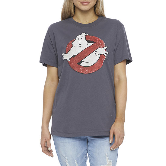 Mighty Fine Juniors Womens Crew Neck Short Sleeve Ghostbusters Graphic T-Shirt