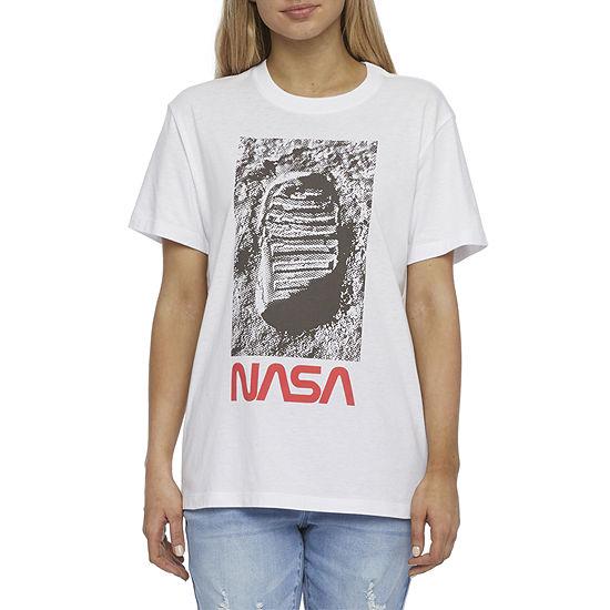 Mighty Fine Juniors Womens Crew Neck Short Sleeve Graphic T-Shirt