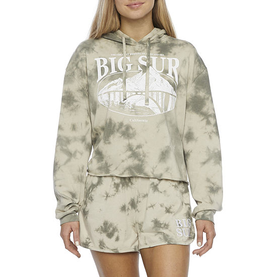 Juniors Womens Hooded Neck Long Sleeve Sweatshirt