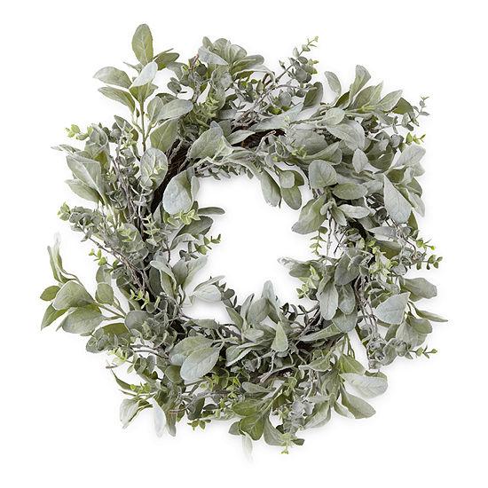 Linden Street Green Eucalyptus Leaf Wreath