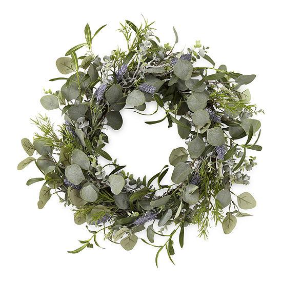 Linden Street Purple Lavender Wreath
