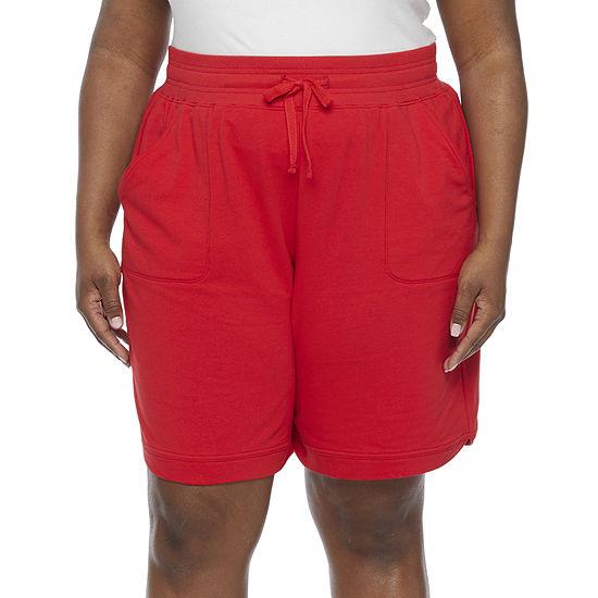 "St. John's Bay Womens 10"" Bermuda Short-Plus"