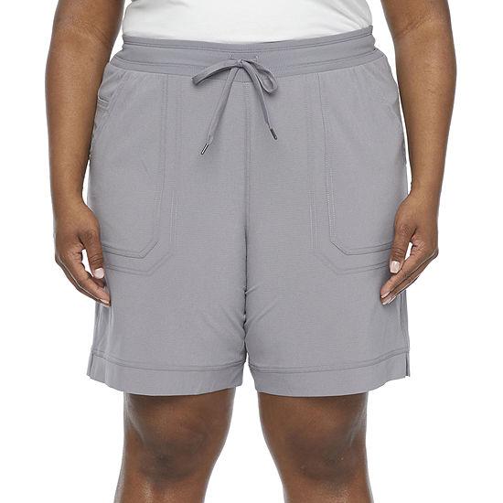 "St. John's Bay Womens Mid Rise 9"" Bermuda Short-Plus"