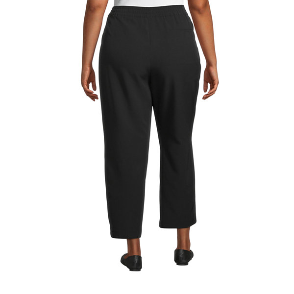 Worthington Womens Comfort Pull On Pant - Plus