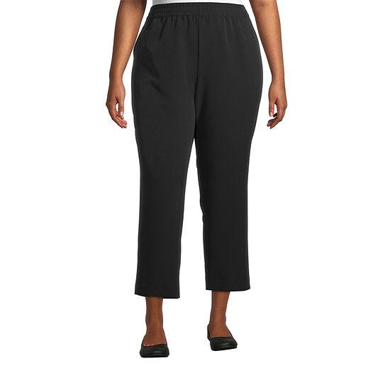 Worthington Womens Comfort Pull On Pant - Plus