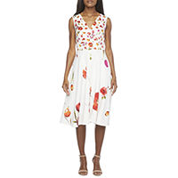 Danny & Nicole Sleeveless Floral Fit & Flare Dress Deals