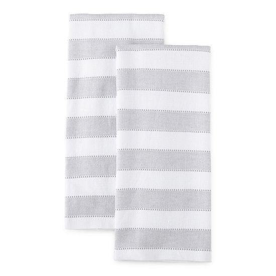 Chambray Stripe Dual Purpose 2-pc Kitchen Towel