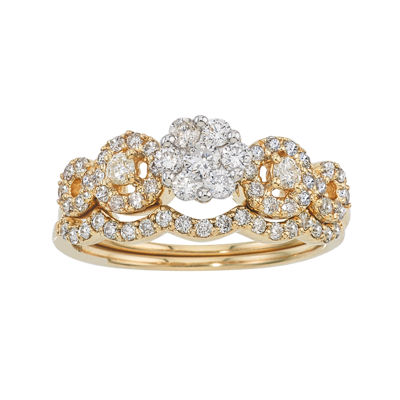 LIMITED QUANTITIES 3/4 CT. T.W. Diamond 14K Two-Tone Gold Ring Set