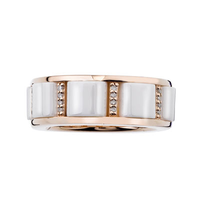 1/6 CT. T.W. Diamond White Ceramic Buckle Band