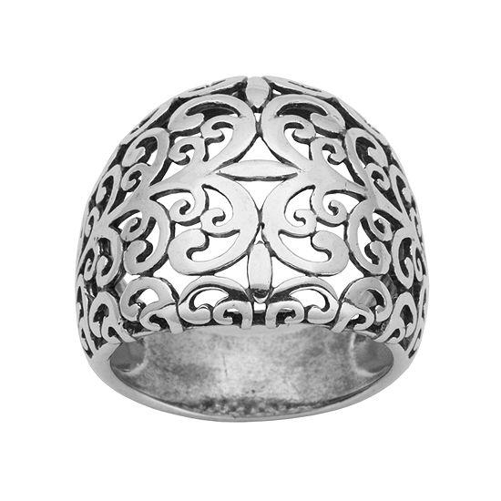 Sterling Silver Scroll Filigree Ring