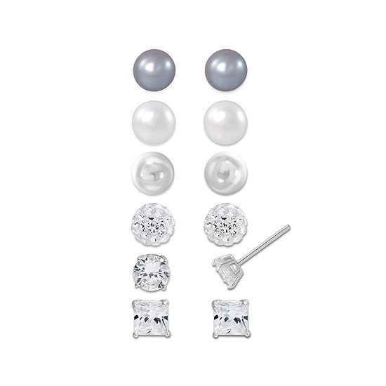 Sterling Silver 6-pr. Earring Set