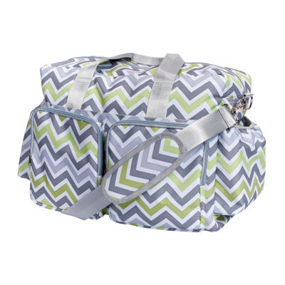 Trend Lab® Chevron Deluxe Duffel Diaper Bag