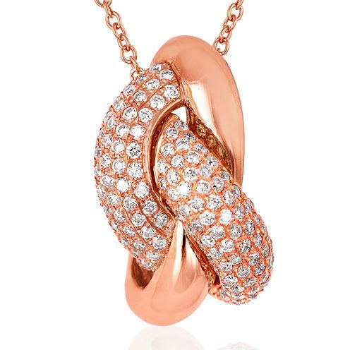 LIMITED QUANTITIES Grand Sample Sale™ by Le Vian® 1/2 CT. T.W. Vanilla Diamonds® 14K Strawberry Gold® Pendant Necklace