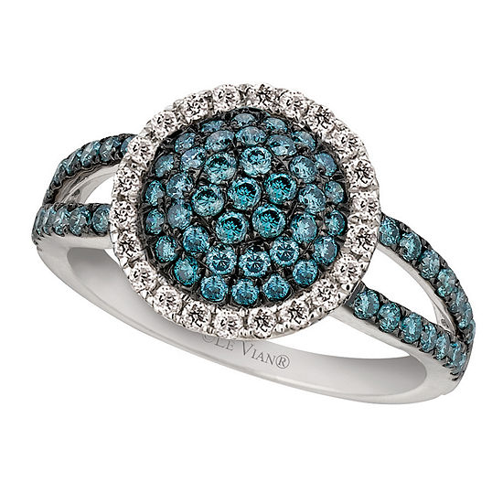 LIMITED QUANTITIES! Le Vian Grand Sample Sale™ Ring featuring Ice Blue Diamonds, Vanilla Diamonds® set in 14K Vanilla Gold®