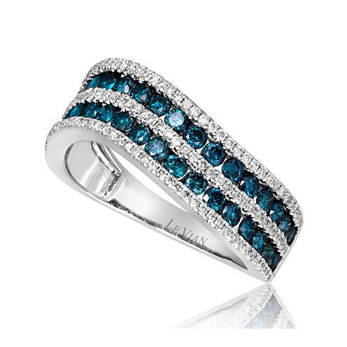 LIMITED QUANTITIES Grand Sample Sale™ by Le Vian® 1 1/4 CT. T.W. Vanilla Diamonds® & Iced Blueberry Diamonds® 14K Vanilla Gold® Le Vian Exotics® Ring