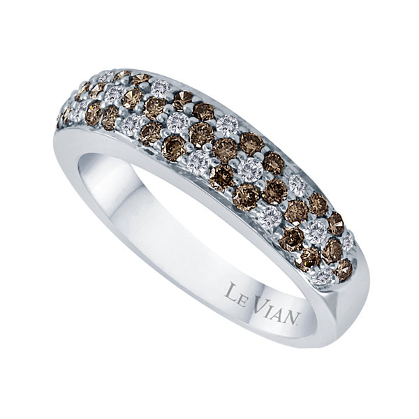 LIMITED QUANTITIES Grand Sample Sale™ by Le Vian® 3/4 CT. T.W. Chocolate Diamonds® & Vanilla Diamonds® 14K Vanilla Gold® Le Vian Chocolatier® Ring
