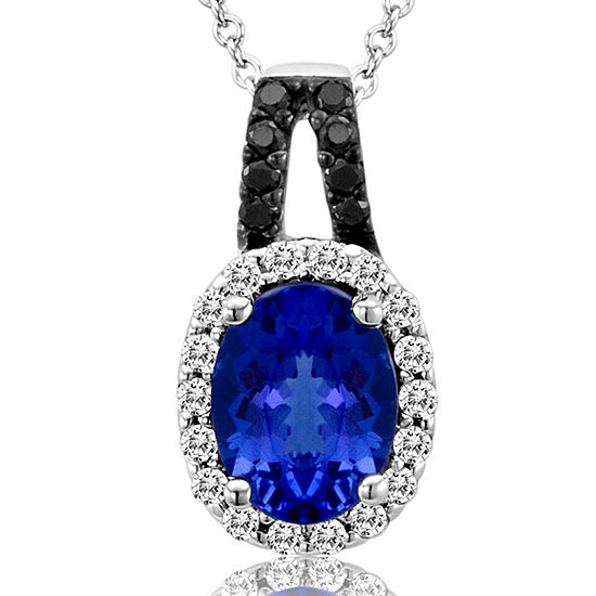 Le Vian Grand Sample Sale™ Pendant featuring Blueberry Tanzanite®, Vanilla Diamonds®, Black Diamonds set in 14K Vanilla Gold®