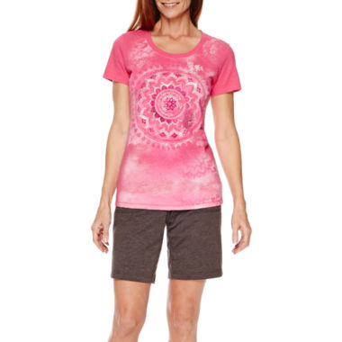 jcpenney.com | Made for Life™ Medallion Graphic T-Shirt or French Terry Bermuda Shorts