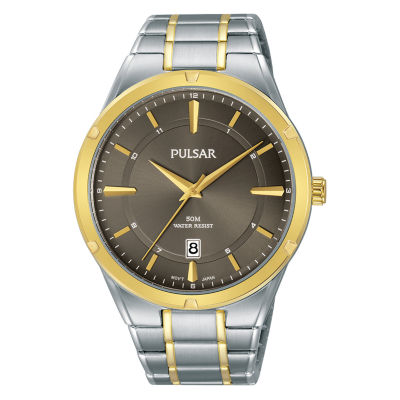 Pulsar Mens Silver Tone Bracelet Watch-Ps9522