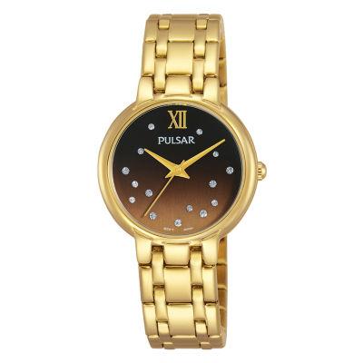 Pulsar Womens Gold Tone Bracelet Watch-Ph8302