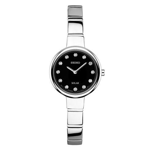 Seiko Womens Silver Tone Bangle Watch-Sup365