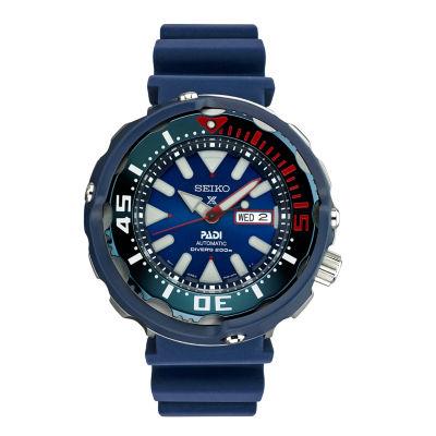 Seiko Dive Mens Blue Strap Watch-Srpa83