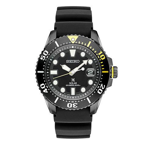 Seiko Dive Mens Gray Strap Watch-Sne441