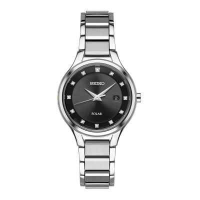 Seiko Womens Silver Tone Bracelet Watch-Sut317