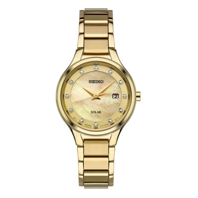 Seiko Womens Gold Tone Bracelet Watch-Sut320