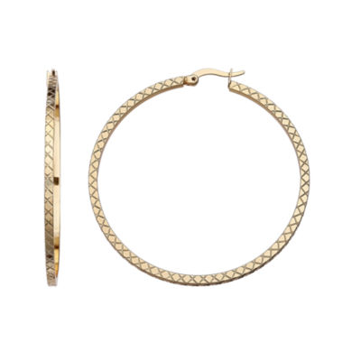 Gold Reflection 30mm Hoop Earrings