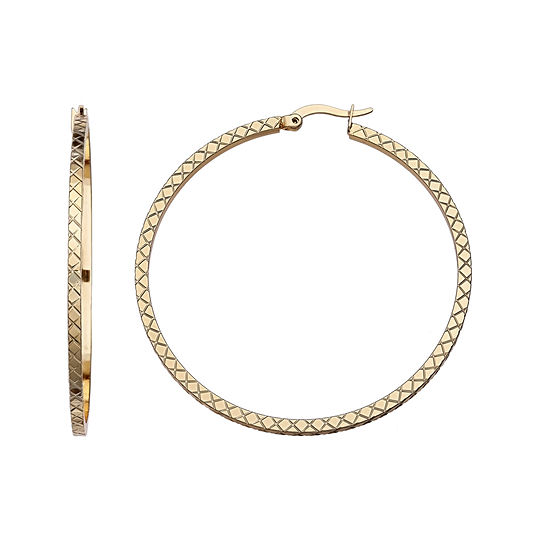 Gold Reflection Hoop Earrings