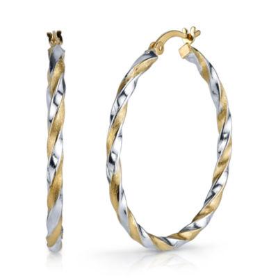 Sterling Silver 36.7mm Hoop Earrings