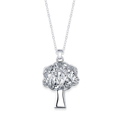 Inspired Moments Womens Sterling Silver Pendant Necklace
