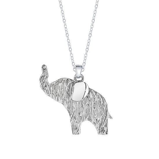 Inspired Moments Sterling Silver Elephant Pendant Necklace