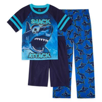 Jelli Fish Kids 3-pc.Shark Short Sleeve-Big Kid Boys