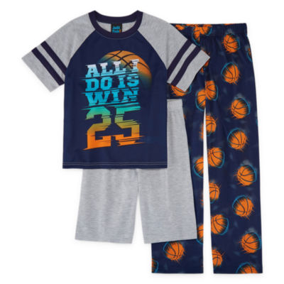 Jelli Fish Kids Boys 3-pc. Short Sleeve Kids Pajama Set-Big Kid
