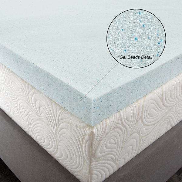 "PuraSleep 3"" OptiPlush Cool Comfort Memory Foam Mattress Topper"