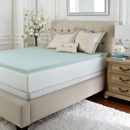 PuraSleep Vila Gel Cooled Luxury Memory Foam Mattress Topper- 2In