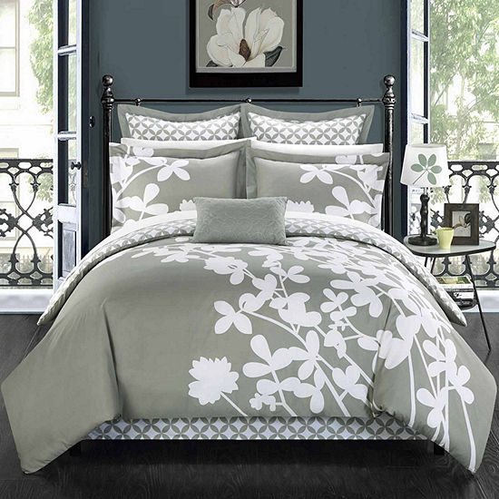 Chic Home Iris 11-pc. Floral Complete Bedding Set with Sheets